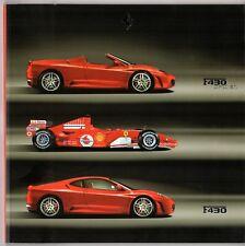 Ferrari F430 2005-06 UK & Italian Markets Sales Brochure Berlinetta Spider