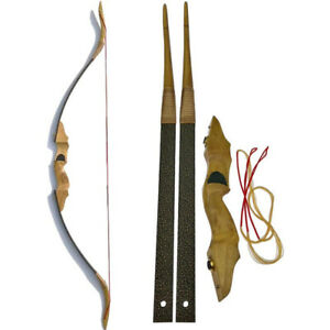 30-50lbs Traditional Recurve Bow Wooden Takedown Horse Archery Hunting Target