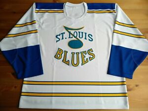 New Lg 48 St Louis Blues 1967 'Lost' Prototype Home White Jersey Winter Classic