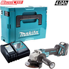 Makita DGA467Z 18V Brushless Angle Grinder With 1 x 4.0Ah Battery Charger & Case