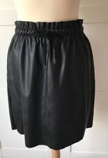 VERO MODA, Black Faux Leather Mini Skirt, Size M, BRAND NEW WITH TAGS