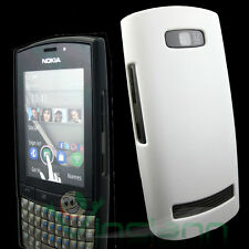2X Custodia per Nokia Asha 303 3030 BIANCO+NERO back cover rigida dura sottile