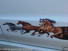 Mustang Pony running Flame Stripe Stripes Decals Decal trailer F150 F250 F350