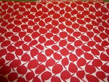 Funky RED & WHITE GEOMETRIC Fabric (45cm x 50cm)