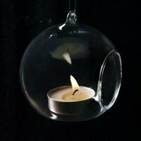 Hängende Glass Vase Blumenvase-Pflanze Glas Wandvase Ball Form Tischdeko Klar