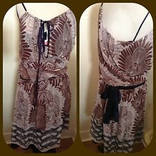$260 joie silk native world print boho   DRESS XS s