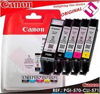 PACK INK CANON PGI-570 CLI-571 CARTRIDGE BLACK PG BLACK CYAN MAGENTA YELLOW