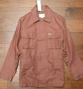 Lacoste BH3935 $325 Men's Cevennes Brown Cotton/Linen Four Pocket Jacket M EU 50