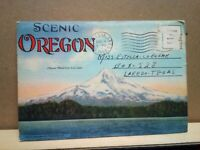 SCENIC OREGON Curt Teich & Co WESLEY ANDREWS Corvallis 8-5-43 D-166 18 views