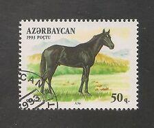 Azerbaijan #358 (A22) VF USED - 1993 50g Qarabair Horse