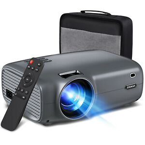 Mini Projector Portable Video Projector FHD 1080P Home Movie Cinema Support 4K