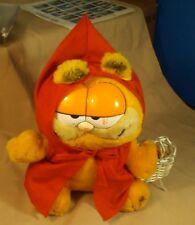 "VTG 1981 10"" Plush Stuffed Toy Garfield Red Riding Hood Dakin Furry Tales"