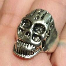 Stainless Steel Skull Ring Men Women Biker Gothic Halloween size 9  RSS97