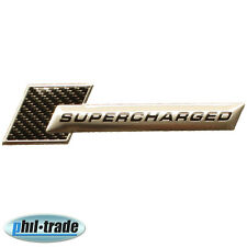 3D Metall Chrom SUPERCHARGED Carbon Turbo Tuning Aufkleber Emblem Logo TS-102