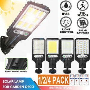 US 1200W LED Solar Wall Light Motion Sensor Outdoor Garden Security Street Lamp