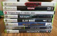 XBOX 360 8 game Lot - Bioshock, Deadpool, Deadrising, Escape Dead Island & More