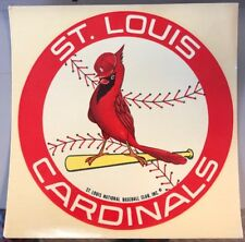NEW UNUSED RARE Vintage St Louis Cardinals Baseball Club MLB Decal Sticker