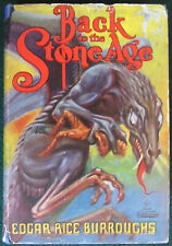RARE~BACK TO THE STONE AGE~EDGAR RICE BURROUGHS~1st ED w/GROSSET DUNLAP ORIG DJ