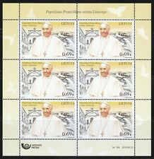 Lithuania 2018 MNH KLB of 6 stamps Pope Francis visit to Vilnius