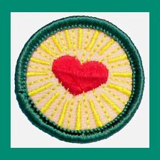 HEALTHY RELATIONSHIPS Girl Scout Junior Jade BADGE Red Heart NEW Multi=1 Ship Ch