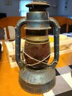 Antique Vintage Dietz NY USA Little Wizard Lantern with Flashed Red Globe