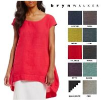 BRYN WALKER USA Heavy Linen  AMY TUNIC  Long Balloon Top  1X 2X 3X  SPRING 2018