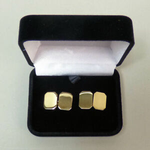 A FINE PAIR OF 9 CT GOLD MAPPIN & WEBB CUFFLINKS LONDON 1996 - 15.5 GRAMS