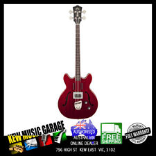 GUILD NEWARK ST COLLECTION STARFIRE ELECTRIC BASS CHERRY RED WITH DELUXE CASE