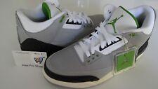 Men's Size 10 Nike Air Jordan 3 Chlorophyll Light Smoke Grey 136064 006