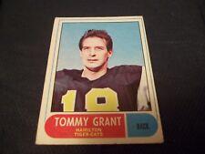 1968 OPC O-Pee-Chee CFL #54 Tommy Grant Hamilton Tiger-Cats - vg