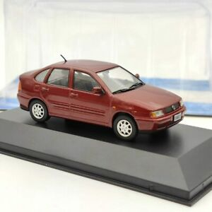 1:43 IXO Volkswagen Polo Classic 1996 Diecast Models Car Toy Collection Gift Red
