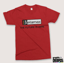 Vintage BETAMAX 'The Future is Here' 70s, 80s Retro Video Tapes  T SHIRT