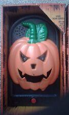 Halloween talking door bell pumpkin Spooky party decoration entrance led prop