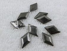 50 Hotfix Nieten Karostonebox Raute zum aufbügeln Black-Nickel 13 x 8mm