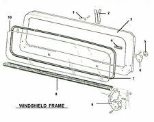 WINDSHIELD FRAME COWL & GLASS SEALS 1976-1986 JEEP CJ5 CJ7 CJ8 - BRAND NEW SEALS