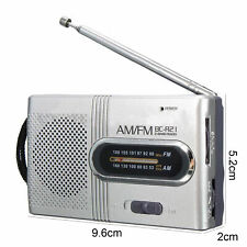 More details for uk stock - teeny tiny portable am/fm receiver radio  pocket bc-r21