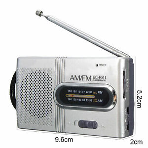 UK Stock - Teeny Tiny Portable AM/FM Receiver Radio  Pocket BC-R21