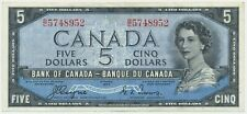 P-68a 1954 Devils hair CANADA $5 BANKNOTE Coyne, Towers GVF B/C