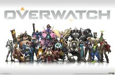 "OVERWATCH POSTER ""GROUP"" LICENSED ""BRAND NEW"" Tracer,Reaper,Lucio,Mercy,Hanzo"
