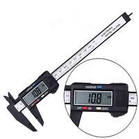150mm 6inch LCD Digital Electronic Carbon Fiber Vernier Calip Gauge MinimeterTB