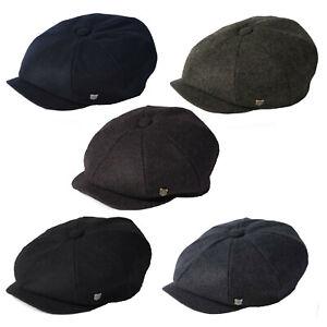 Failsworth Alfie Melton Wool Bakerboy Newsboy Cap Black/Grey/Navy/Merlot/Brown
