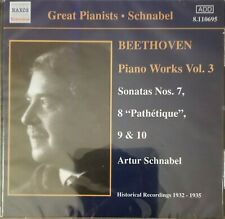 *NEW/SEALED* Great Pianists Schnabel Beethoven Piano Works Vol 3 CD 2002 Naxos