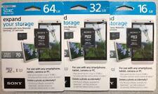 Original Sony Micro SDXC SDHC Memory Card class 10 - 70MB/s - 32GB 16GB -@