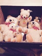 1982 Steiff Collectors Set of five White Family Teddy Bears