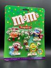 M&M's Ceramic Christmas Magnets - Orange, Red, Green, Blue, & Yellow