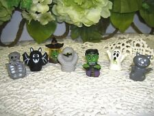 Finger Puppets Frankinstein Witch etc for Halloween seven piece set