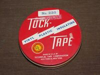 "VINTAGE 5"" ACROSS TECHNICAL TAPE CORP TUCK TAPE METAL TIN CAN *EMPTY*"