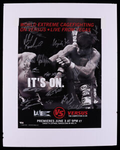 2007 UFC Versus 25.5x32 Poster on Foam Board Signed by 18 (Fanatics Hologram)