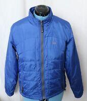 Sierra Designs Blue Quilted Puffer Packable Full Zip Up Coat Jacket Women's L