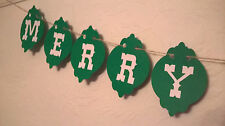 Merry Christmas Bauble Bunting Garland Decoration 3 Metres Handmade